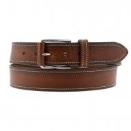 Cintura in pelle marrone incisa Miguel Bellido
