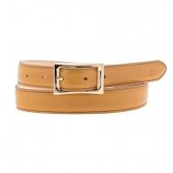 Cintura El Caballo con fibbia rettangolare in pelle liscia