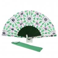 Ventilatore batik verde fantasia multicolor