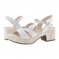Sandali in pelle bianca D-8810-P Wonders