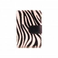 Portafoglio in pelle di zebra