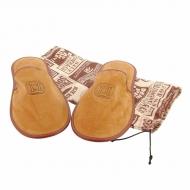 Zapatillas viaje piel serraje funda tela