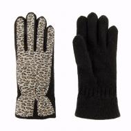 Guanti in lana e leopardati