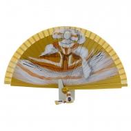 Abanico diseño de menina en oro